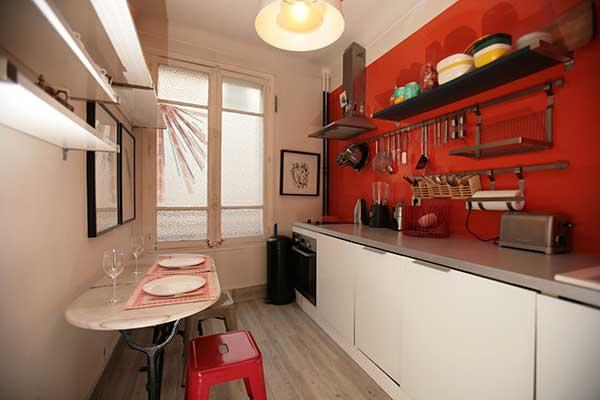 Ah Paris vacation apartment 96 - cuisine